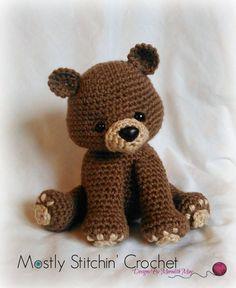 Bear Crochet Pattern PDF Black Bear Brown Bear by MostlyStitchin