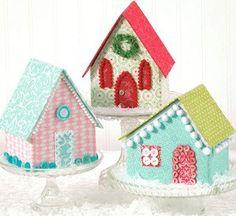 PATTERN Vintage Style Glitter Village PUTZ by DorothyPrudieFabrics