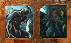 http://www.arcadja.com/auctions/en/grose_adam_roy/artist/382159/ - Prelude to Explusion.   Series of three large works exploring Genesis and Revelation.
