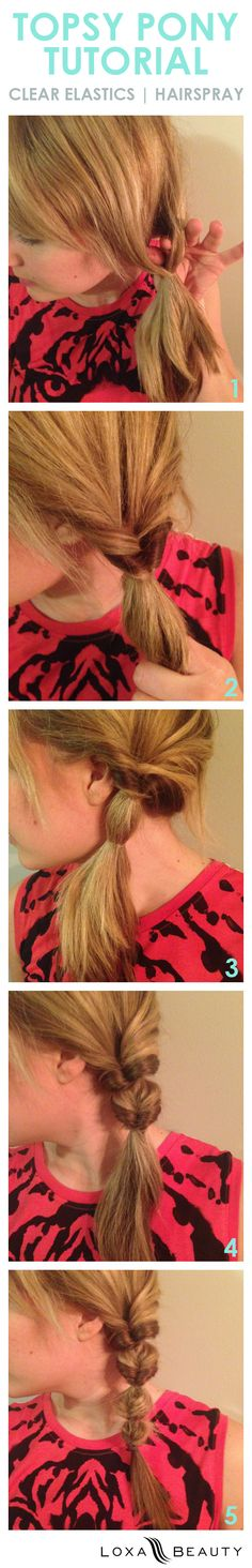 swap your braid with this topsy pony tutorial