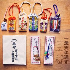 Omamori Japan Japanese New Year, Japanese Paper, Japan Art, Nihon, Lucky Charm, Japanese Culture, Fabric Flowers, Diy And Crafts, Learning Japanese