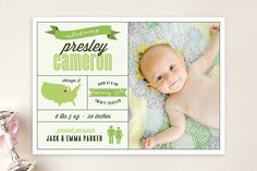 Introduced by Infographic Birth Announcements by Squareview Studios at minted.com 1.63