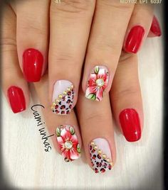 Olha que decoração linda, desta unha!!!! Nail Art Diy, Diy Nails, Spring Nails, Summer Nails, Exotic Nails, Feet Nails, Flower Nail Art, Christmas Nail Art, Sweet Life