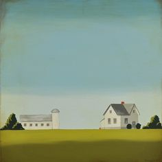 Iowa farmhouse and barn painting