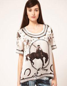 rodeo print on shirt