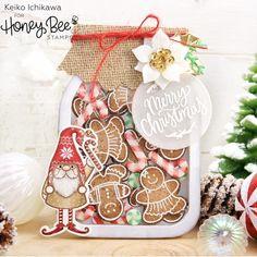 Mason Jar Cards, Mason Jars, Christmas Tag, Christmas Crafts, Stamped Christmas Cards, Italian Christmas, Christmas Things, Xmas Cards, Christmas Ornaments