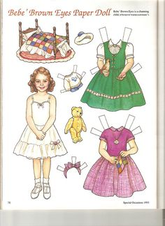 (⑅ ॣ•͈ᴗ•͈ ॣ)♡                                                             ✄Sew Beautiful paper doll Bebe 1 by Lagniappe*Too, via Flickr