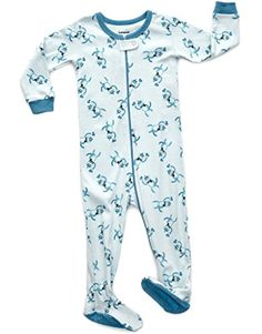 01ea245db4 Leveret Baby Boys Footed Sleeper Pajama 100% Cotton (2 Ye... https