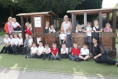 Albany Infant School: Jade class with teacher Jayne Griffin and teaching assitants Debbie Pollard and Smrita Ganguly.