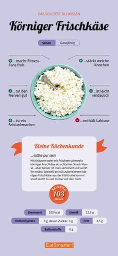 Unsere 15 besten Hüttenkäse-Rezepte gibt es hier | eatsmarer.de #hüttenkäse #körnigerfrischkäse #infografik