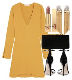 A fashion look from August 2017 featuring baby doll dress, black heeled sandals and Jimmy Choo. Browse and shop related looks. Night Outfits, Fall Outfits, Fashion Outfits, Womens Fashion, Fashion Trends, Elegant Outfit, Classy Dress, Stylish Outfits, Cute Outfits
