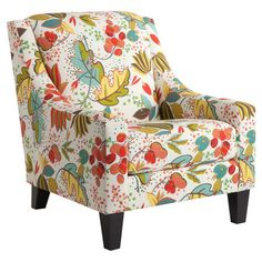 Curl up with your favorite read in this sophisticated arm chair, featuring tapered espresso-hued legs and playful nature-inspired upholstery. Furniture Styles, Cool Furniture, House Of Turquoise, Take A Seat, Upholstered Furniture, Home Goods, Family Room, Accent Chairs, Upholstery