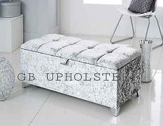 #Crushed velvet ottoman storage #blanket box chenille fabric #available you choos,  View more on the LINK: http://www.zeppy.io/product/gb/2/201596312528/