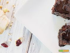 brownies di fagioli neri e cacao ai cranberries e nocciole  #ricette #food #recipes