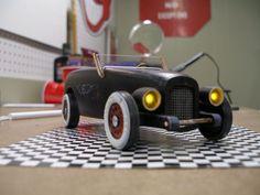 Vintage Pinewood Derby Car