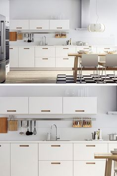 A bright, white kitchen is the perfect choice for a busy family that wants to minimize clutter. IKEA SEKTION kitchens let you create a look unique to your space and style. Click for kitchen inspiration!