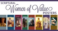 The Personal Progress Helper: Scriptural Women of Value Posters | Free Download