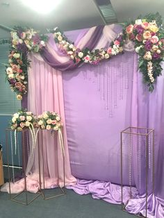 Diy Wedding Flowers, Purple Wedding, Floral Wedding, Engagement Decorations, Flower Decorations, Wedding Decorations, Wedding Mandap, Wedding Stage, Wedding Trends