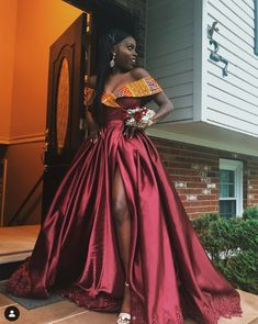 African prom dress,wedding reception dress,African party dresses,Ankara Clothing for women Hochzeit 💒 African Formal Dress, African Party Dresses, Prom Girl Dresses, African Wedding Dress, Prom Outfits, African Dresses For Women, African Print Dresses, African Print Fashion, African Attire