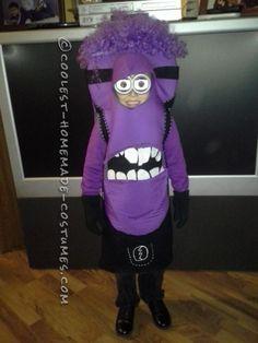 Coolest Purple Minion Costume for a Kid