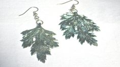 Nature Inspired Leaf Earrings Fantasy Style by MonasCreationsFL