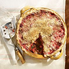 Raspberry-Rhubarb Pie - Healthy Summer Desserts - Cooking Light