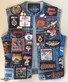 Saxon vest | TShirtSlayer TShirt and BattleJacket Gallery