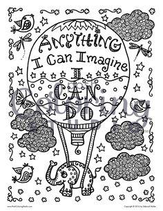 Hot Air Balloon Posh Adult Coloring Book Inspirational Quotes For Fun Relaxation Deborah Muller