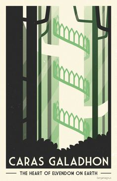 Middle Earth Travel Posters - Created by Benjamin Magnus