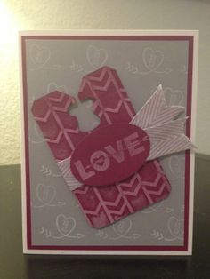STAMPIN UP Love you to the Moon Chalkboard Valentines Day Card