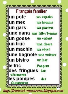 Resultado de imagen de LES EXPRESSIONS FAMILIÈRES EN FRANÇAIS