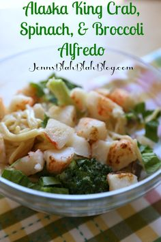 Alaska King Crab, Spinach, & Broccoli Alfredo - Jenns Blah Blah Blog | Tips & Trends for Living The Family Life