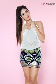 #Falda #etnica #brillos  #lentejuelas  #glitters #moda #fashion