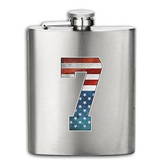 USA Flag Number 7 Men Women Lady Personalized Mini Flask Small Stainless Flagon Mini Liquor Wine Pot >>> Click image to review more details. (This is an affiliate link) #LiquorWineFlasks