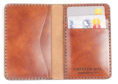 #53 Antiqued Saffron Italian Calf Compact Bi-Fold Wallet - Chester Mox ($153)