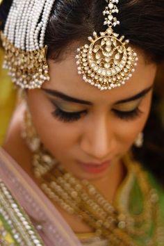 Indian Passa Fashion Ethnic Wedding Party Wear Pearl Cz Kundan Hair Jewelry Sets Comfortable Feel Hair & Head Jewelry
