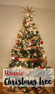 Diy Rustic Christmas Tree How To Create A Color Story And Theme For Your Ornaments Decor