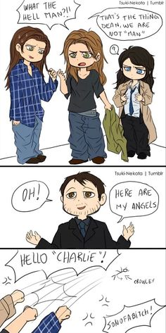 Cas is confused about his boobs