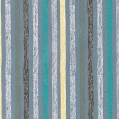 Cotton dusty blue w abstract stripes - Stoff & Stil
