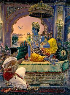 Welcome to Large Uddhavayadev of Marek Buchwald Señor Krishna, Jai Shree Krishna, Krishna Love, Hare Krishna, Krishna Leela, Krishna Photos, Krishna Images, Indian Gods, Indian Art