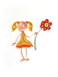 Friendship quilling greeting card  handmade and by szalonaisa, $8.50