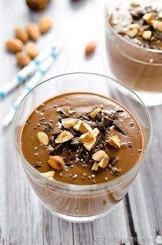 Chocolate Almond Chia Seed Smoothie