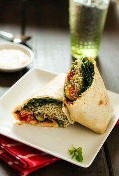 Veggie quinoa grilled wraps