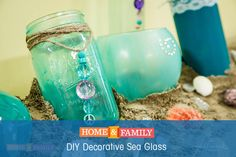 DIY Decorative Sea Glass -  Add a pop of color and create sea glass at home. Put them in the bathroom for unique decor! Crafted by @paigehemmis on Home and Family!