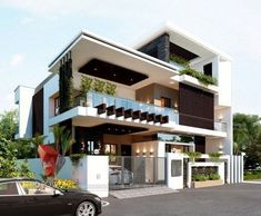 Minimalist Home Exterior Architecture Design Ideas Minim. - Minimalist Home Exterior Architecture Design Ideas Minimalist Home Exterior - Modern Exterior House Designs, Modern House Plans, Cool House Designs, Best Modern House Design, Home Exterior Design, Modern Bungalow Exterior, 3d Home Design, House Design Photos, Bungalow House Design
