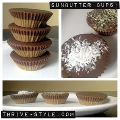 Nut butter and chocolate cups.