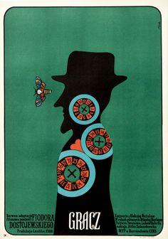 The Gambler Gracz Flisak Jerzy Polish Poster