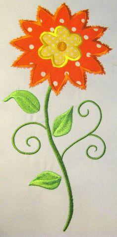 Vintage Flower 09 Machine Applique Embroidery Design  by KCDezigns, $3.50