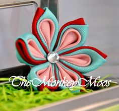 Flower Hair Clip for Girls  Piece of Cake Large by TheMonkeyMoos, $21.00