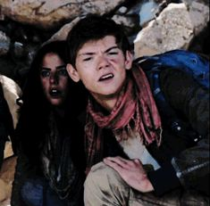 Thomas Brodie-Sangster (Newt) and Will Poulter (Gally) from The Maze Runner. I just HAD to make a meme from this interview - this clip had me in tears! lmao XD